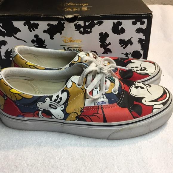 3bc1d16c2f Disney Mickey   Friends Vans Sneakers. M 5bff67d59539f78ff91745a9